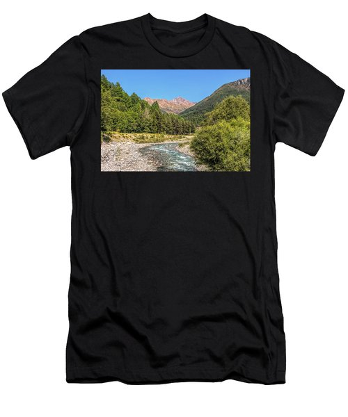 Streaming Through The Alps Men's T-Shirt (Athletic Fit)