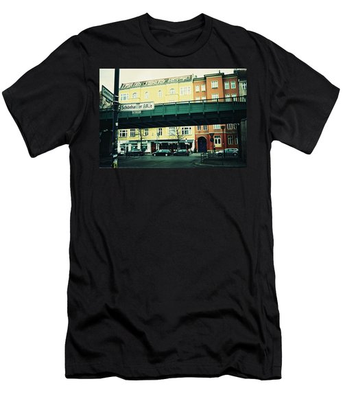 Street Cross With Elevated Railway Men's T-Shirt (Athletic Fit)