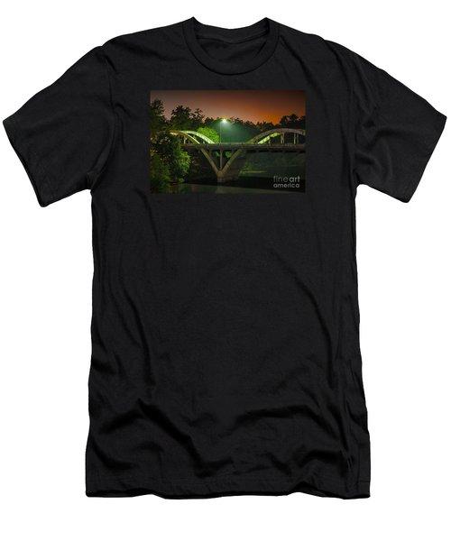 Street Light On Rogue River Bridge Men's T-Shirt (Athletic Fit)