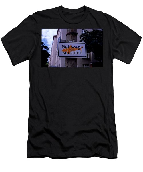 Street Sign With Graffiti Men's T-Shirt (Athletic Fit)