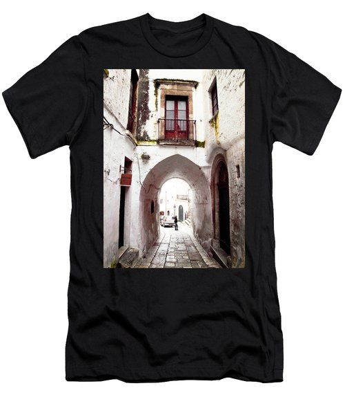 Streets Of Ostuni Men's T-Shirt (Athletic Fit)