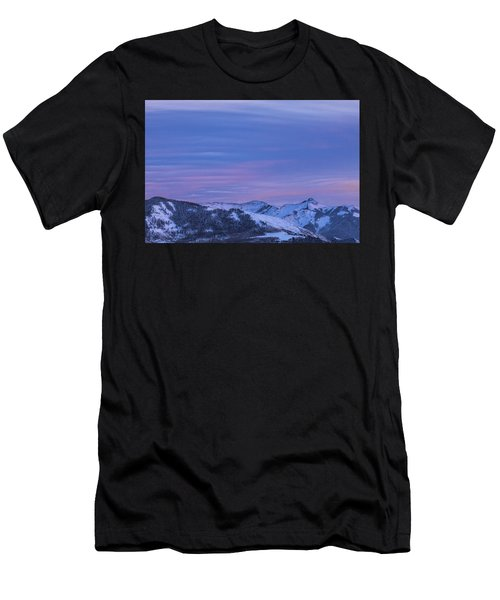 Striped Sky At Day's End Men's T-Shirt (Athletic Fit)