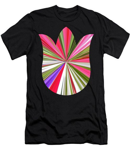 Striped Tulip Men's T-Shirt (Athletic Fit)