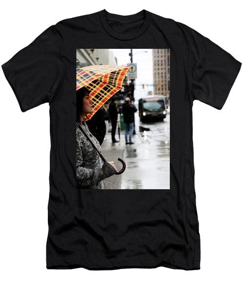 Men's T-Shirt (Slim Fit) featuring the photograph Stuck Down by Empty Wall