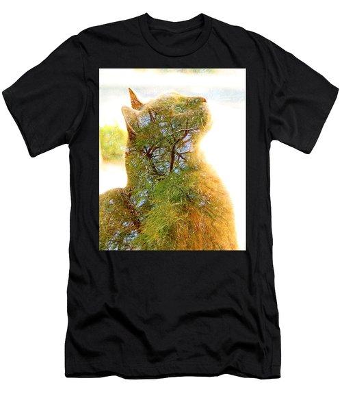 Stuck In Cat Men's T-Shirt (Athletic Fit)