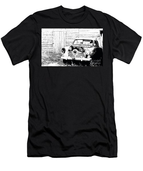 Studebaker Black And White Men's T-Shirt (Slim Fit) by Renie Rutten