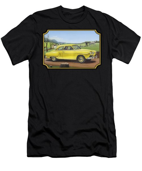 Studebaker Champion Antique Americana Nostagic Rustic Rural Farm Country Auto Car Painting Men's T-Shirt (Athletic Fit)