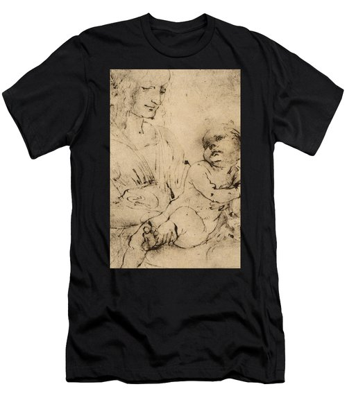 Study Of A Madonna And Child Men's T-Shirt (Athletic Fit)