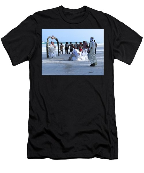 Stunning Kenya Beach Wedding Men's T-Shirt (Athletic Fit)