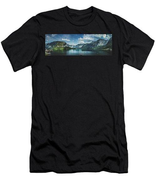 Stunning Lake Hallstatt Panorama Men's T-Shirt (Athletic Fit)