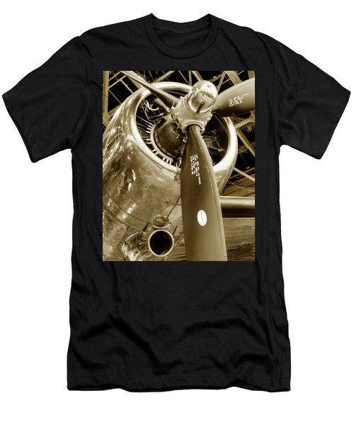 Stunning Propeller In Sepia Men's T-Shirt (Athletic Fit)
