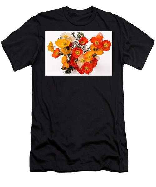 Stunning Vibrant Yellow Orange Poppies  Men's T-Shirt (Athletic Fit)