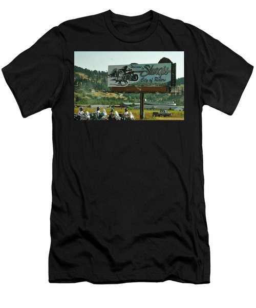 Sturgis City Of Riders Men's T-Shirt (Slim Fit) by Anna Ruzsan