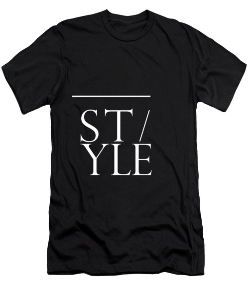 Style 1 - Minimalist Print - Typography - Quote Poster Men's T-Shirt (Athletic Fit)