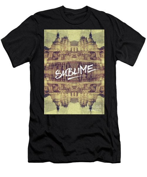 Sublime Fontainebleau Chateau France French Architecture Men's T-Shirt (Athletic Fit)