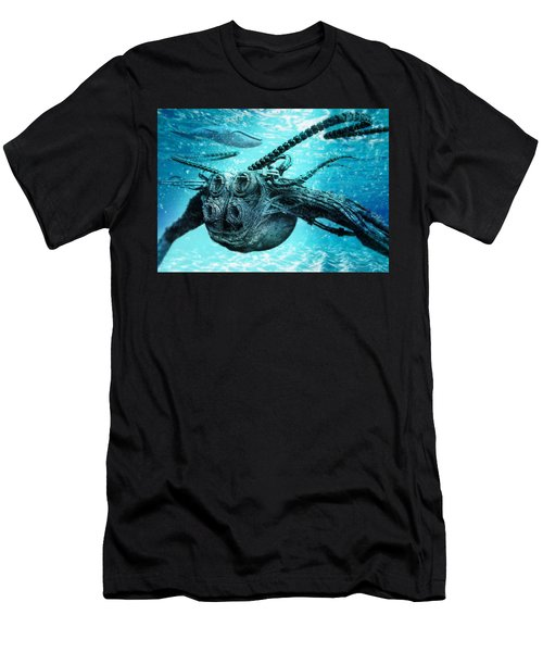 Men's T-Shirt (Athletic Fit) featuring the digital art Submarine by Uwe Jarling
