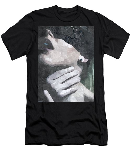 Submission In Black Men's T-Shirt (Athletic Fit)