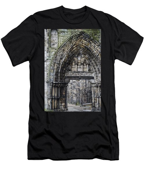 Men's T-Shirt (Slim Fit) featuring the photograph Subtle Shades Of Stone Holyrood Edinburgh Scotland by Sally Ross