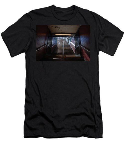 Men's T-Shirt (Slim Fit) featuring the photograph Subway Stairs To Freedom by Rob Hans