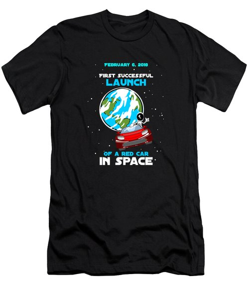 Successful Launch Of The First Car In Space Men's T-Shirt (Athletic Fit)
