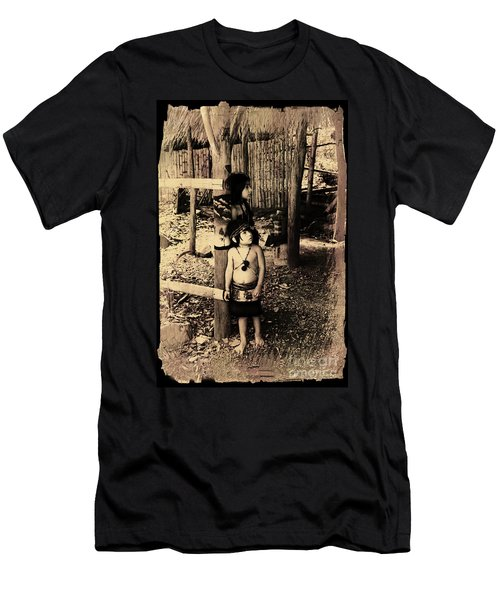 Men's T-Shirt (Slim Fit) featuring the photograph Sucua Kids 895 by Al Bourassa