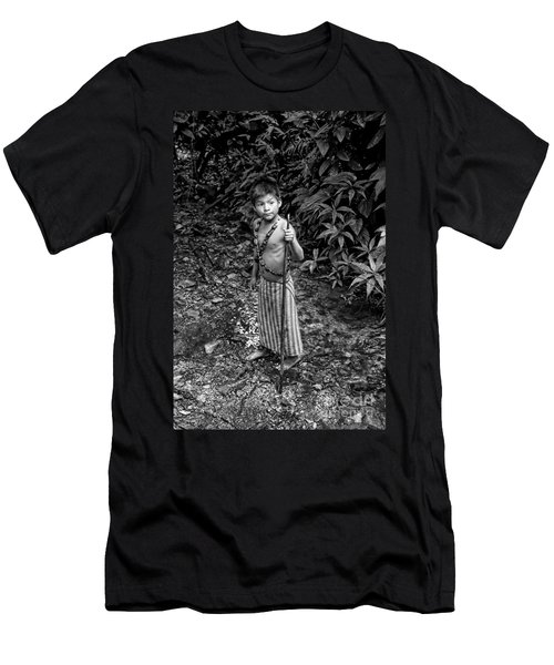 Men's T-Shirt (Slim Fit) featuring the photograph Sucua Kids 898 by Al Bourassa