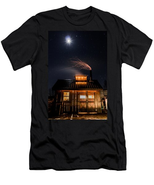 Sugar House At Night Men's T-Shirt (Slim Fit) by Tim Kirchoff