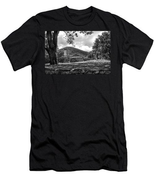 Sugar Plantation Ruins Bw Men's T-Shirt (Athletic Fit)