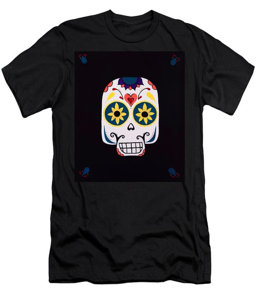 Sugar Skull Men's T-Shirt (Athletic Fit)