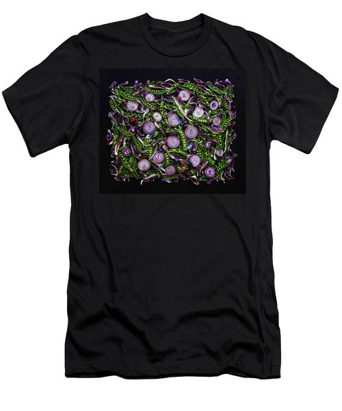 Sugar Snap Peas And Red Onion Mix Men's T-Shirt (Athletic Fit)
