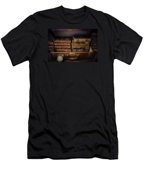Suitcase Full Of Books Men's T-Shirt (Athletic Fit)
