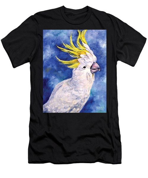Men's T-Shirt (Athletic Fit) featuring the painting Sulphur-crested Cockatoo by Ryn Shell