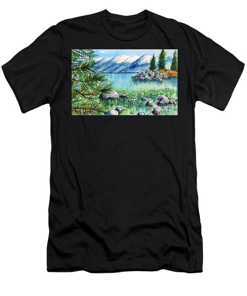 Summer At Lake Tahoe Men's T-Shirt (Athletic Fit)