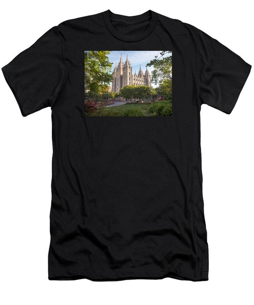 Summer At Temple Square Men's T-Shirt (Athletic Fit)