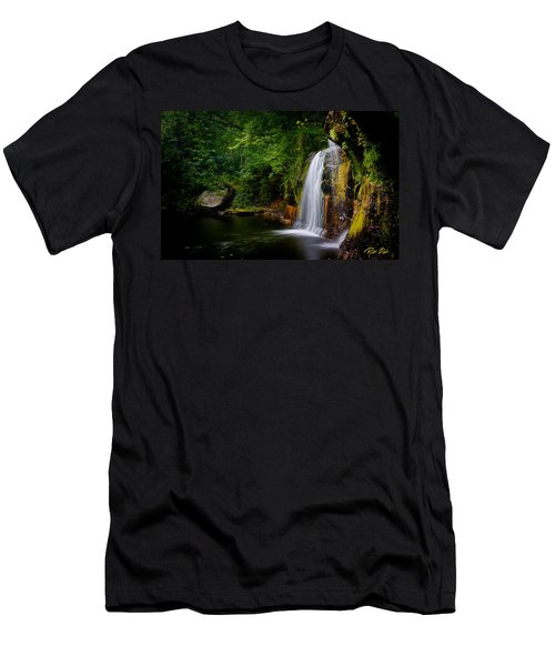 Summer At Wolf Creek Falls Men's T-Shirt (Athletic Fit)