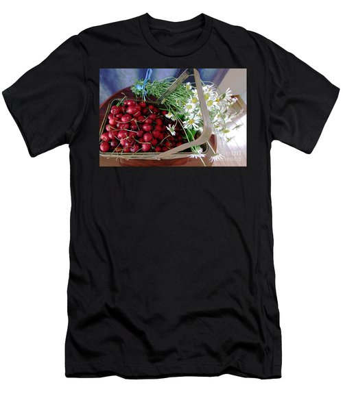 Men's T-Shirt (Slim Fit) featuring the photograph Summer Basket by Vicky Tarcau