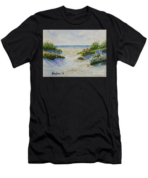 Summer Beach Men's T-Shirt (Athletic Fit)