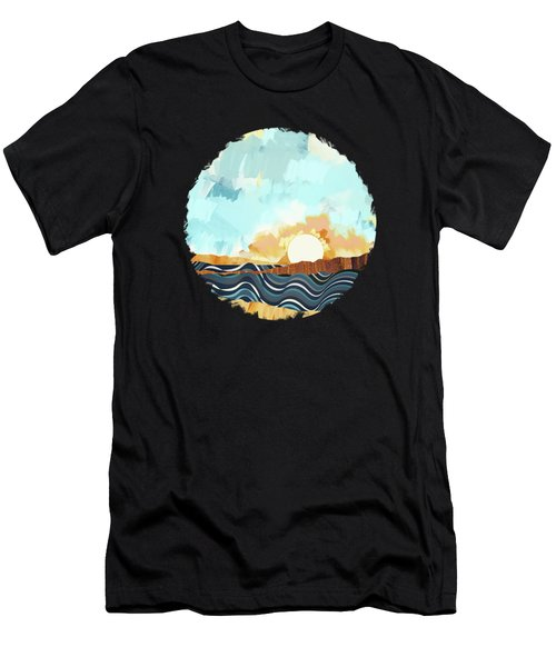 Summer Beach Sunset Men's T-Shirt (Athletic Fit)