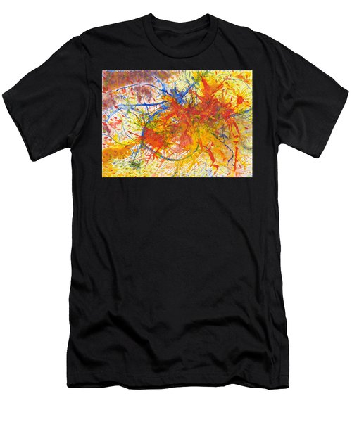 Summer Branches Alfame With Flower Acrylic/water Men's T-Shirt (Athletic Fit)