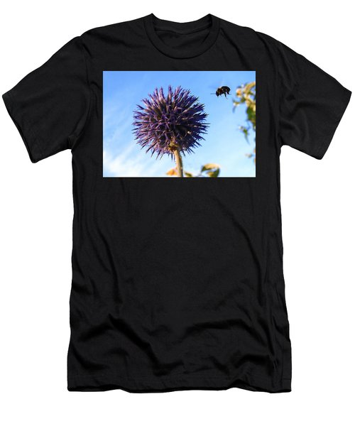 Men's T-Shirt (Athletic Fit) featuring the photograph Summer Busy Bee by Roger Bester
