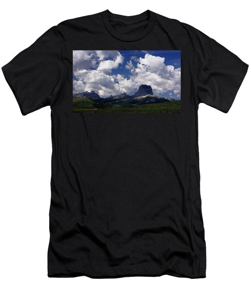 Summer Day At Chief Mountain Men's T-Shirt (Athletic Fit)