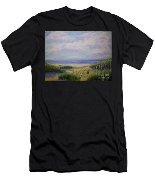 Summer Day At The Beach Men's T-Shirt (Athletic Fit)