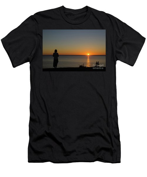 Men's T-Shirt (Slim Fit) featuring the photograph Summer Evening By The Coast by Kennerth and Birgitta Kullman