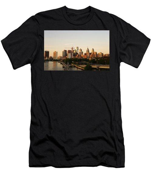 Summer Evening In Philadelphia Men's T-Shirt (Athletic Fit)