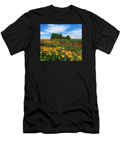 Summer Flowers In Pa Men's T-Shirt (Athletic Fit)