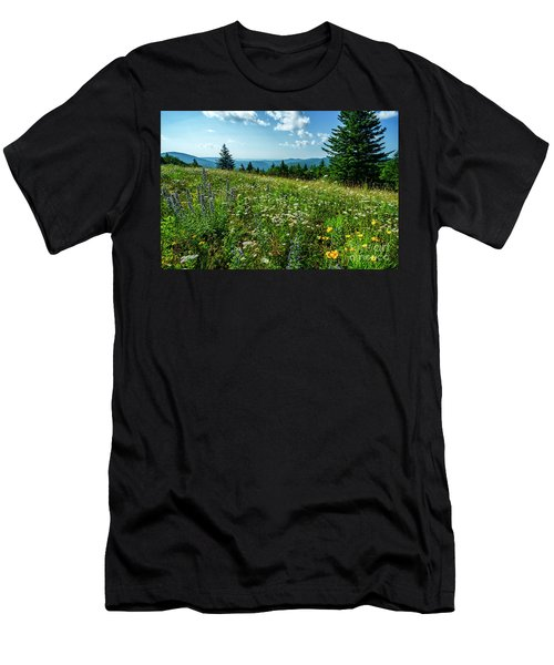 Summer Flowers In The Highlands Men's T-Shirt (Athletic Fit)