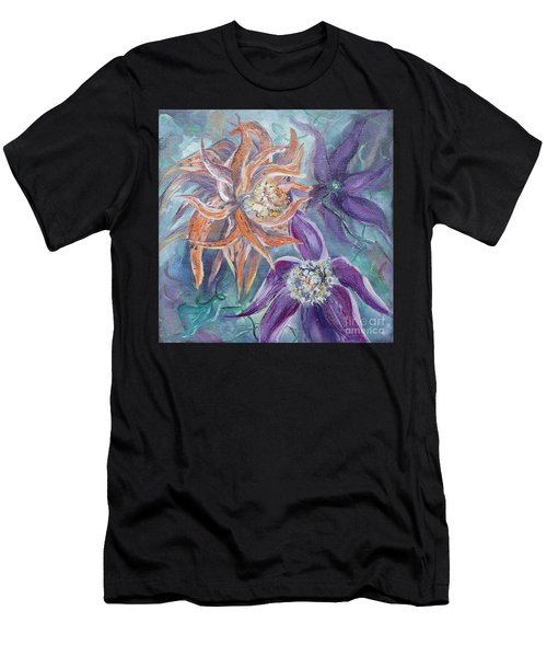 Men's T-Shirt (Athletic Fit) featuring the painting Summer Flowers No. 2 by Ryn Shell