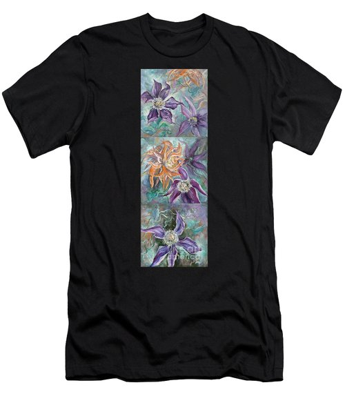 Men's T-Shirt (Athletic Fit) featuring the painting Summer Flowers Tall by Ryn Shell