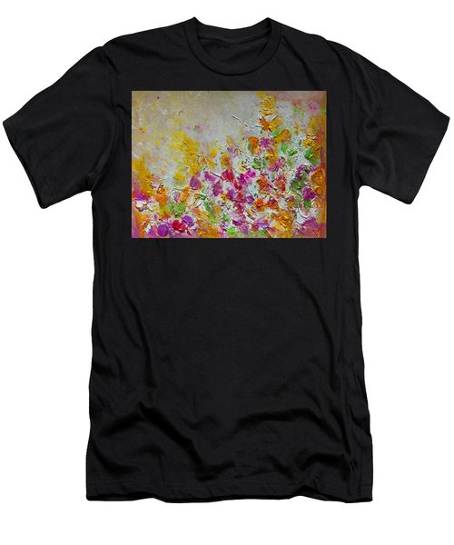 Summer Fragrance Abstract Painting Men's T-Shirt (Athletic Fit)
