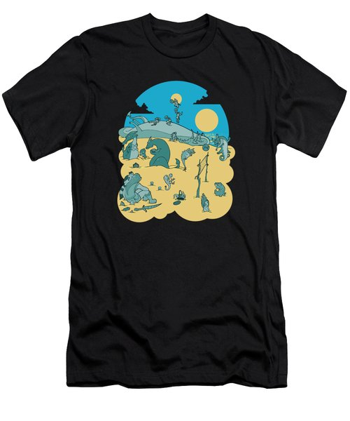 Summer Game On Vacation  Men's T-Shirt (Athletic Fit)